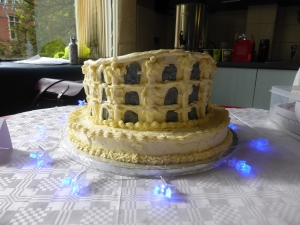 Charlie's Colosseum Cake, lit up