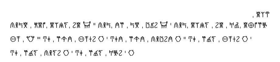 Screenshot of typed Linear B text